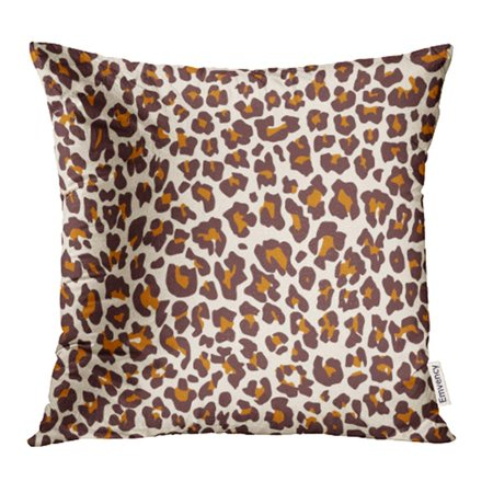 Orange Cheetah (YWOTA White Cheetah Jungle Exotic Safari Leopard Pattern Orange Black Brown Color Cat Pillow Cases Cushion Cover 16x16 inch )