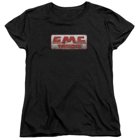 Gmc Beat Up 1959 Logo Womens Short Sleeve Shirt