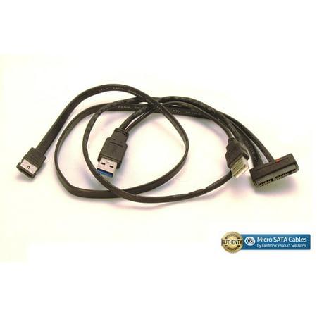 Micro SATA 1.8 inch Cable with eSATA DATA – 1.5 Amp