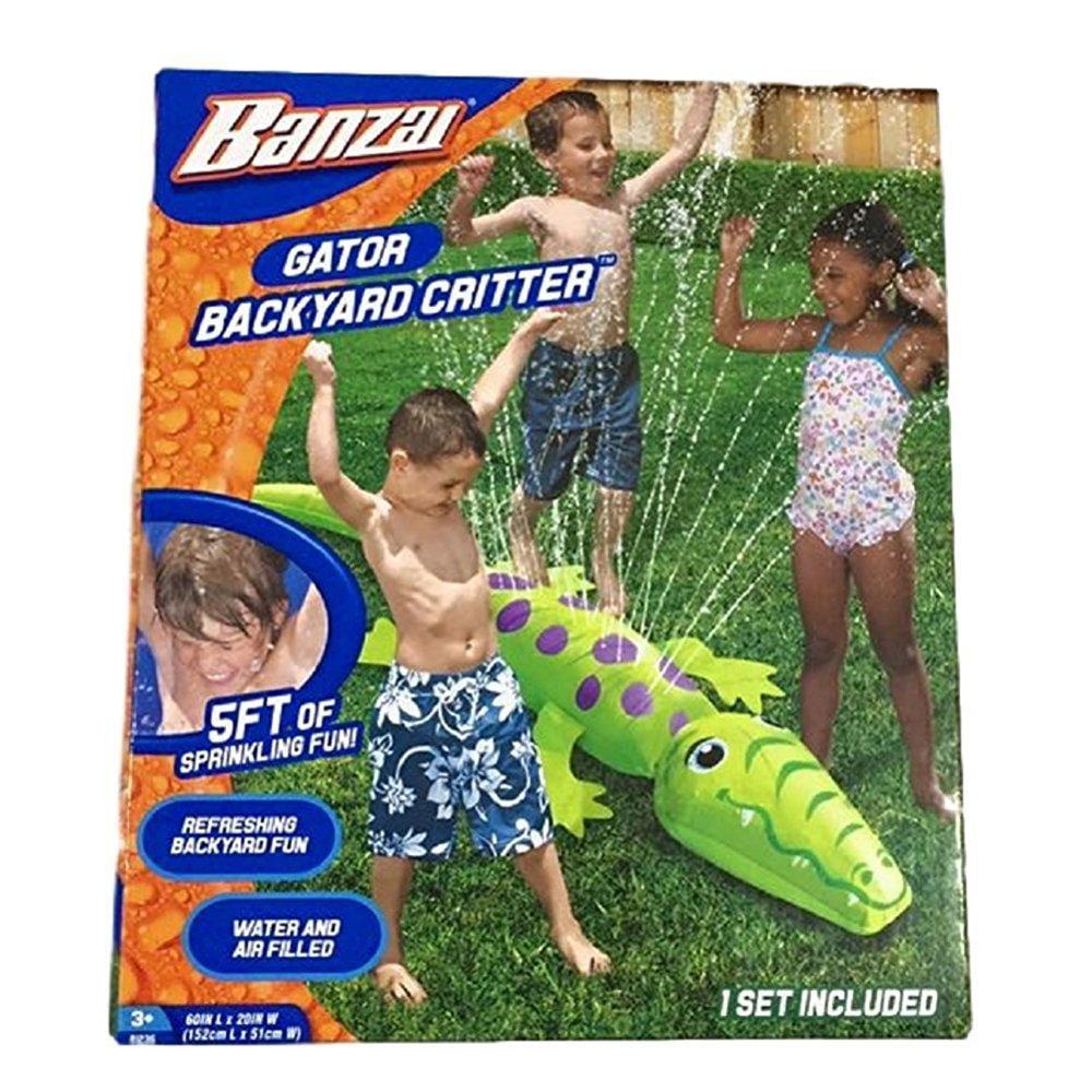 Banzai Gator Backyard Critter Sprinkler by Banzai