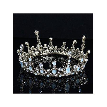 Vintage Wedding Bridal Crystal Crown Tiara Headband Hair Accessories Prom Party - Prom Crowns