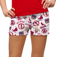 St. Louis Cardinals Loudmouth Women's Cooperstown Mini Shorts - White