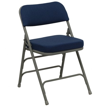 A Line Furniture Heather Blue Cushioned Seat Folding Chairs ()