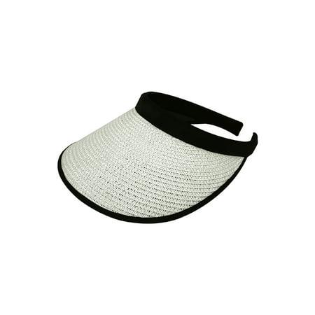 Braid Visor (Top Headwear Toyo Braid Clip-On Visor - White)