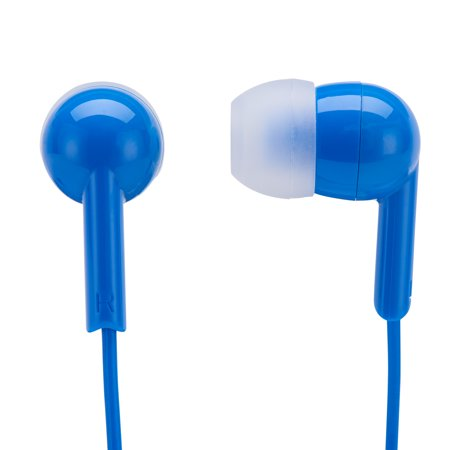 Onn In Ear Headphone Earbuds with Micro-USB Connector and In-Line Microphone for Hands Free Calling, Multiple Colors