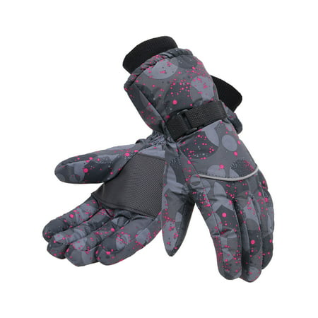 Simplicity Women 3M Thinsulate Lined Waterproof Snowboard / Ski Gloves,S,Black
