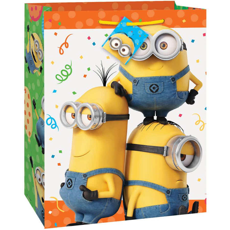 Despicable Me Minions Gift Bag, 13 x 10.5 in, 1ct
