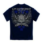 Navy Cotton Elite Breed Law Enforcement Crome Wings T-Shirt
