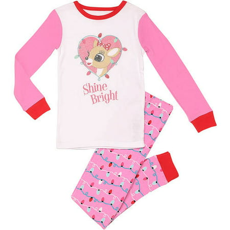 Rudolph Newborn Baby Girl Shine Bright Snug Fit 2 piece set