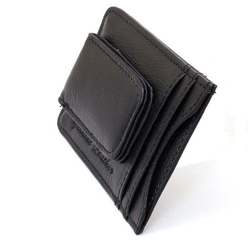 aod mens leather money clip slim front pocket wallet magnetic id credit card holder walmartcom - Money Clip Card Holder