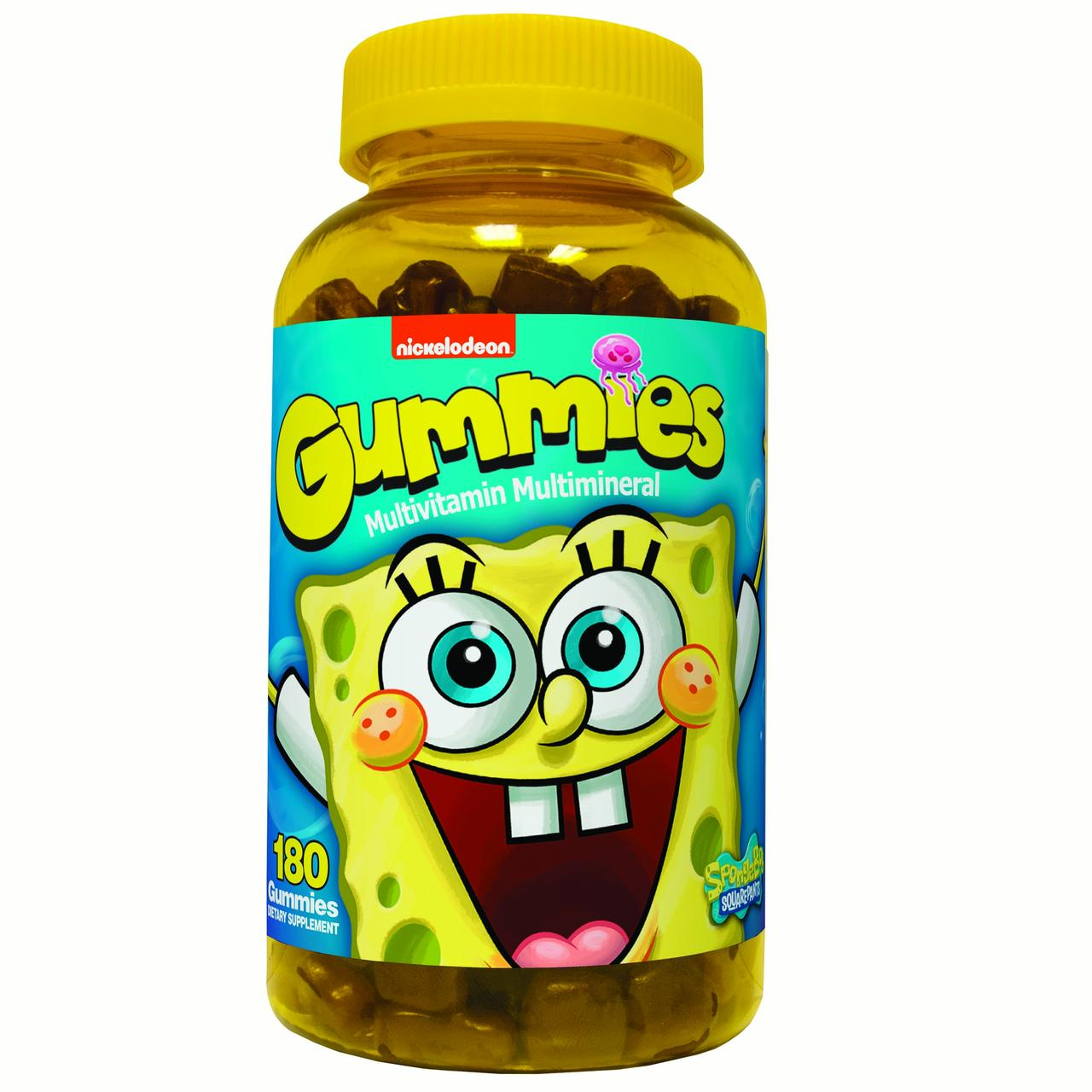 Nickelodeon Spongebob Multivitamin Multimineral Gummies, 180 count