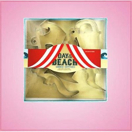Beach Themed Cookie - Day At The Beach Cookie Cutter Set