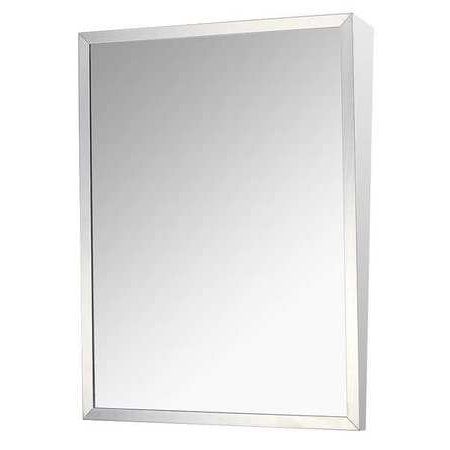 KETCHAM Fixed Tilt Mirror, Stainless Steel, 36