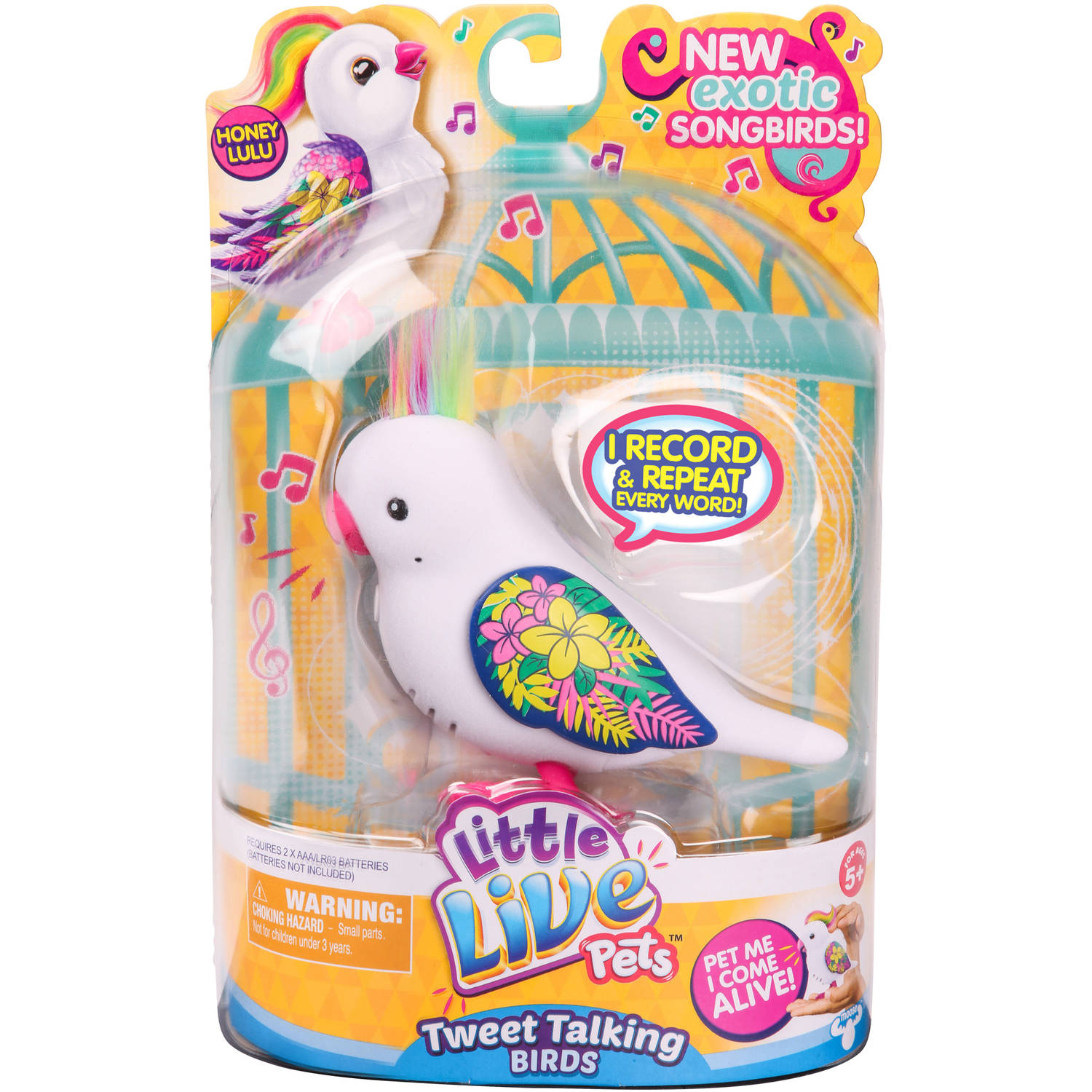Little Live Pets S5 Bird Single Pack, Honey Lulu