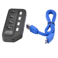 4-Port Expansion High Speed Laptop USB 3.0 Hub Data Transfer Ports Splitter