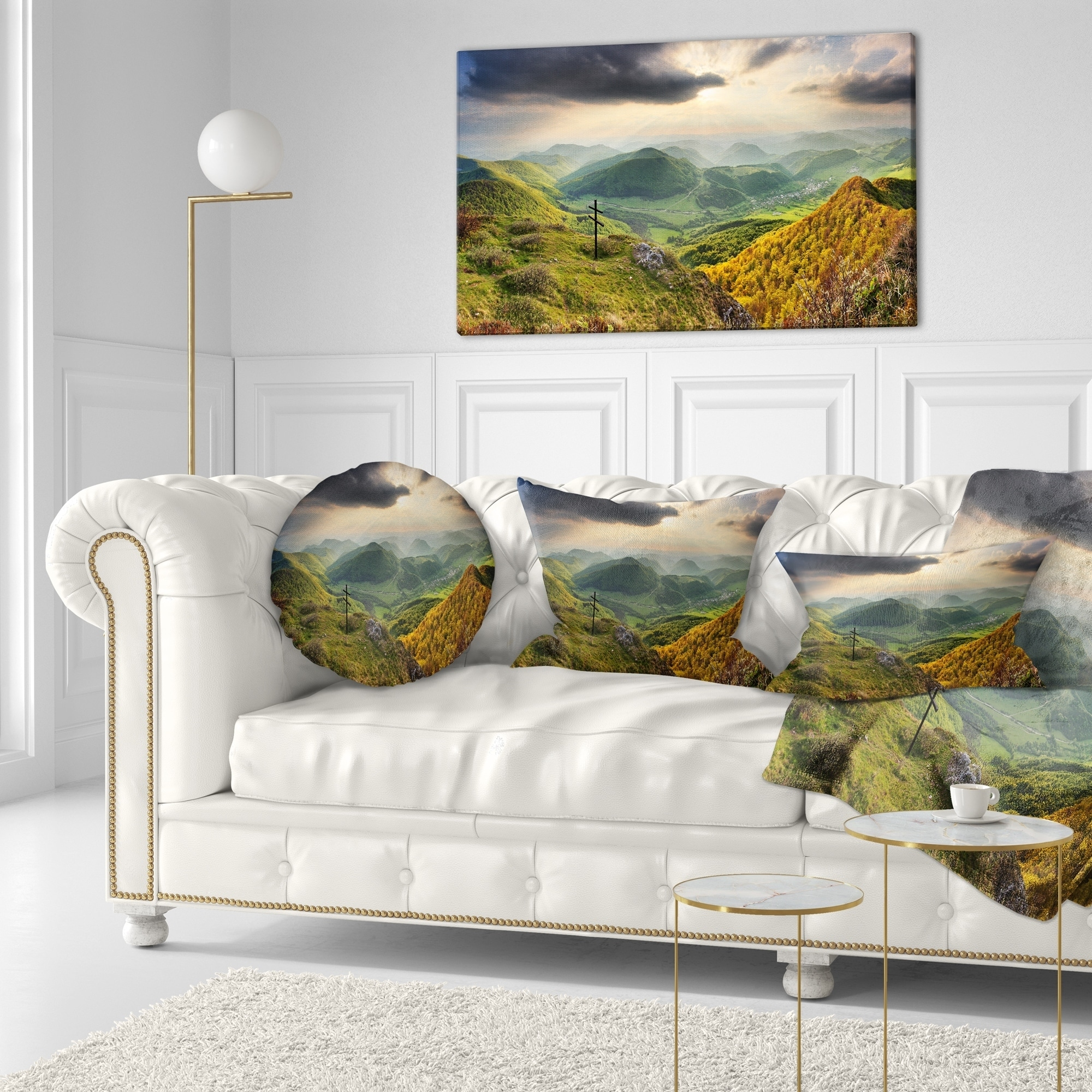 in x 16 in Sofa Throw Pillow 16 in Designart CU14269-16-16 Slovakia Spring Forest Mountain Landscape Printed Cushion Cover for Living Room