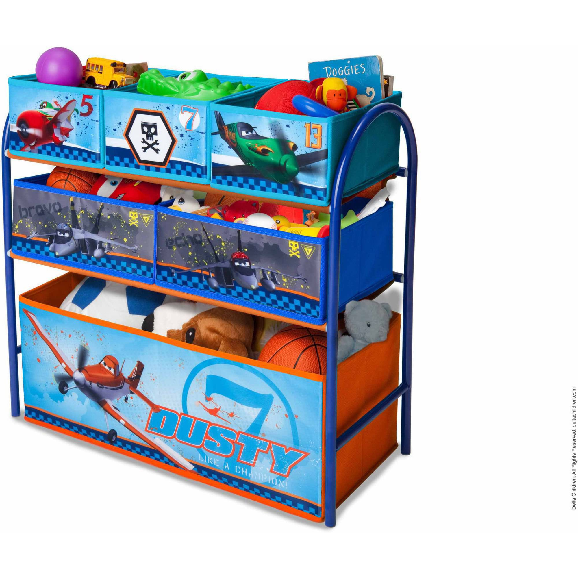 Elegant Disney By Delta Children Planes Metal Multi Bin Toy Organizer   Walmart.com
