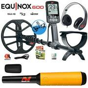 Minelab EQUINOX 600 Multi-IQ Underwater Metal Detector & Pro-Find 20 Pinpointer