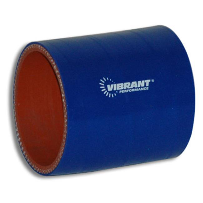 VIBRANT 2718B 4 Ply Reinforced Silicone Sleeve Connector, Blue