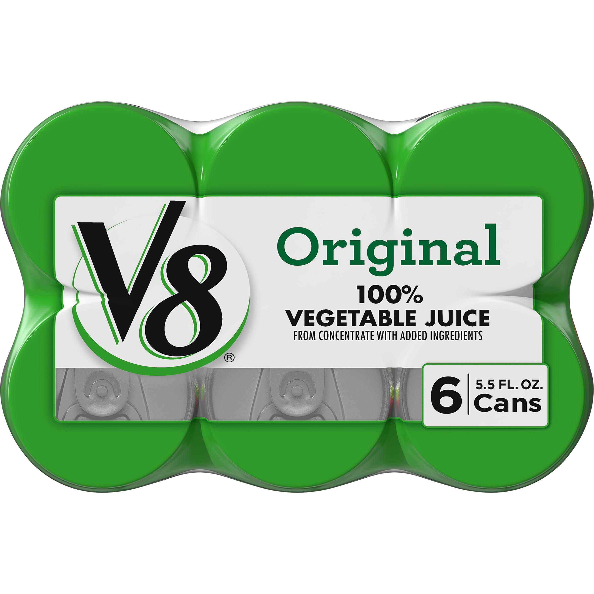 V8 Original 100 Vegetable Juice 5 5 Oz Can Pack Of 6 Walmart Com