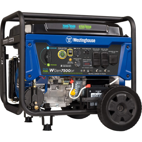 Westinghouse WGen7500DF Dual Fuel Gas Powered Portable Generator