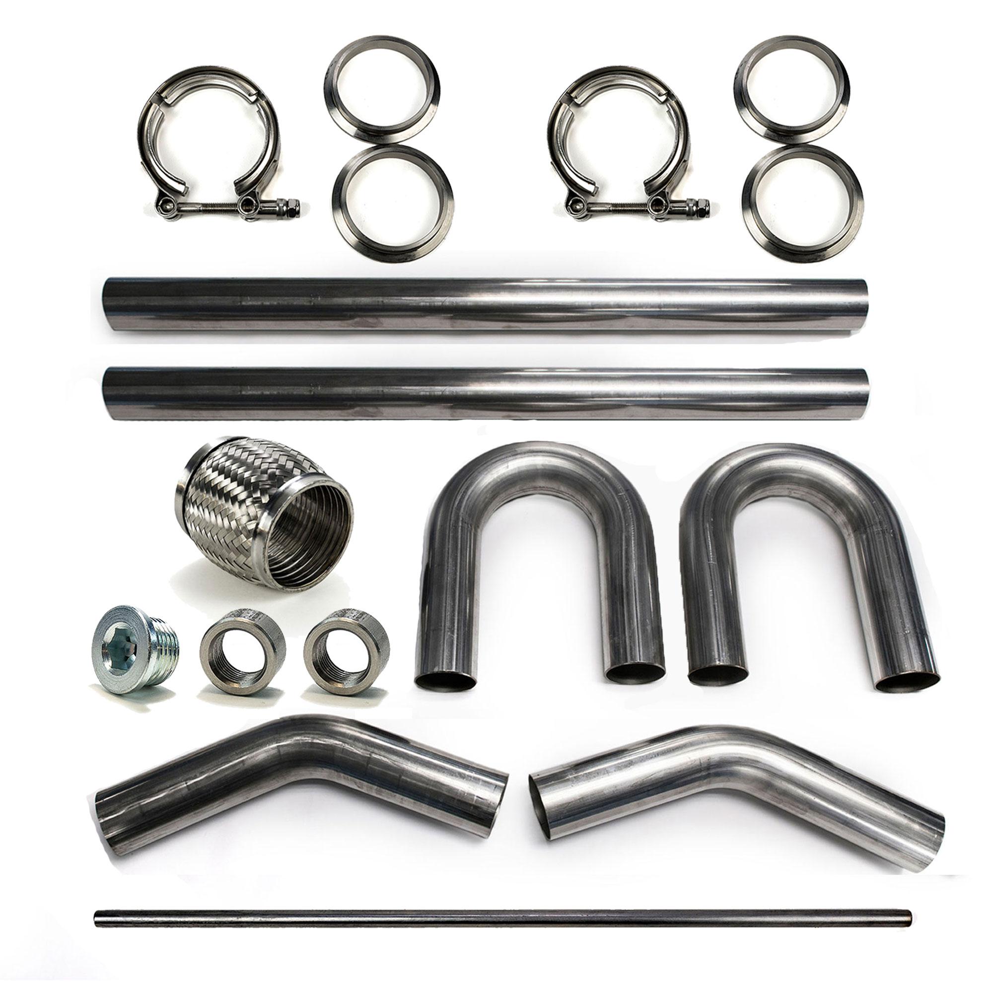 """3"""" 304 Stainless Mandrel Bend Builder Kit Exhaust V-Band ..."""