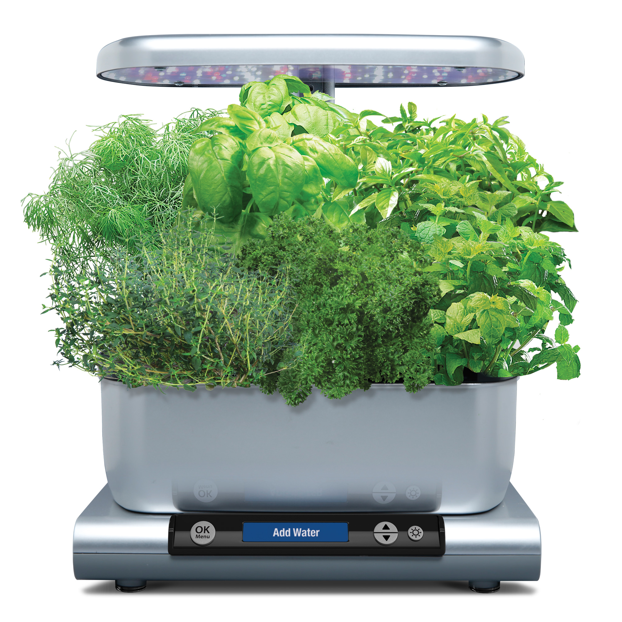 AeroGarden Harvest Premium, Platinum with Gourmet Herbs Seed Kit