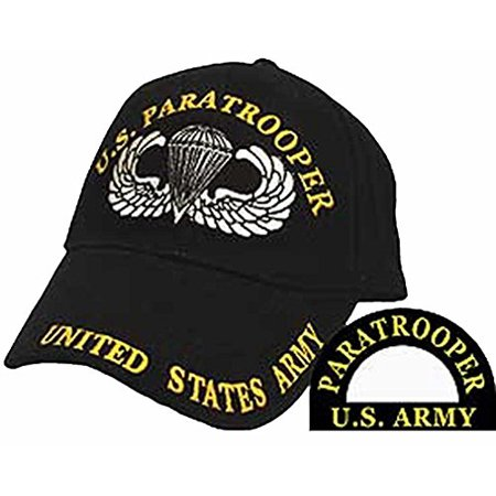 U.S. ARMY PARATROOPER W/ JUMP WINGS Direct Embroidered Hat - Color - Veteran Owned Business
