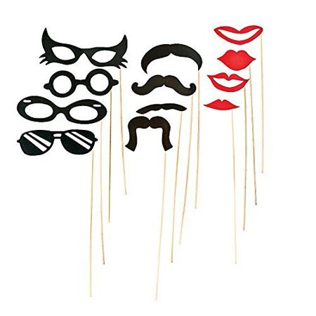 Mustache Party Costume Props-12ct - Mustache Costume