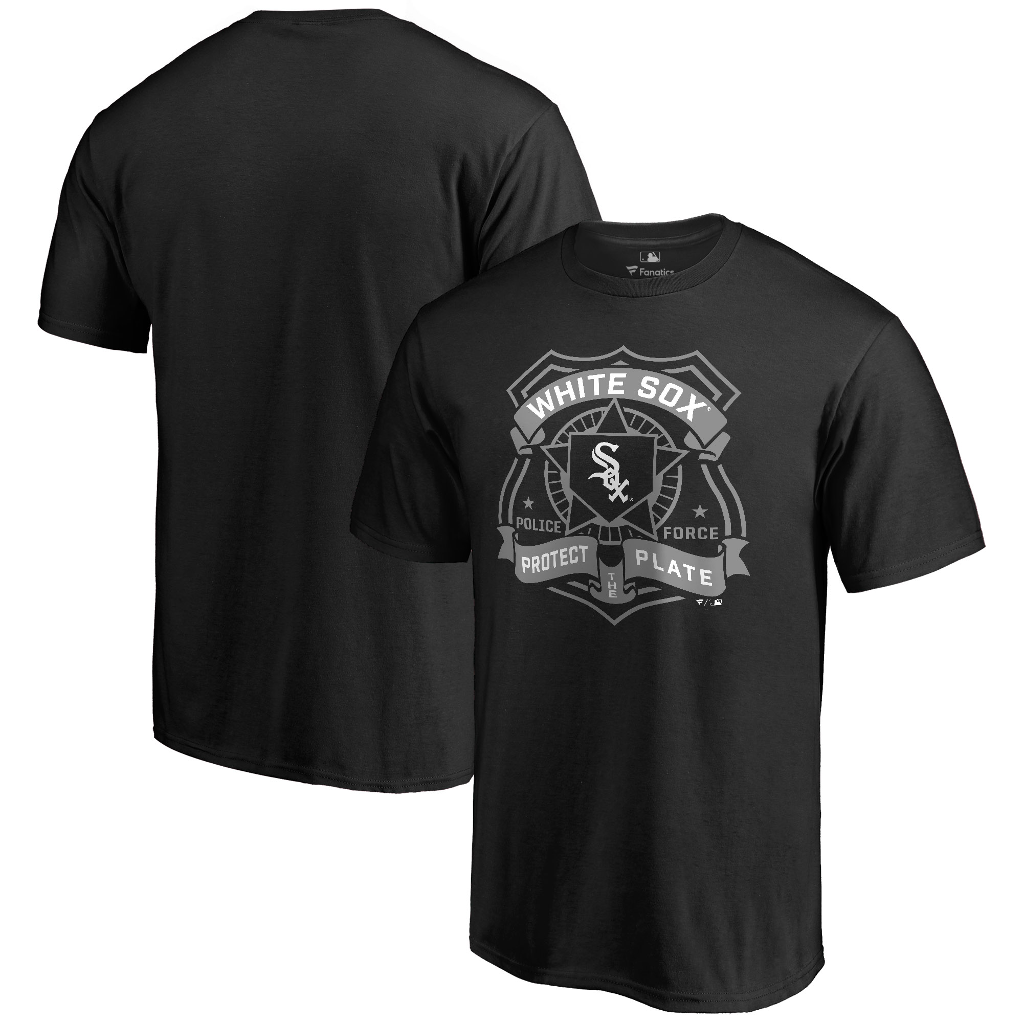 Chicago White Sox Police Badge T-Shirt - Black