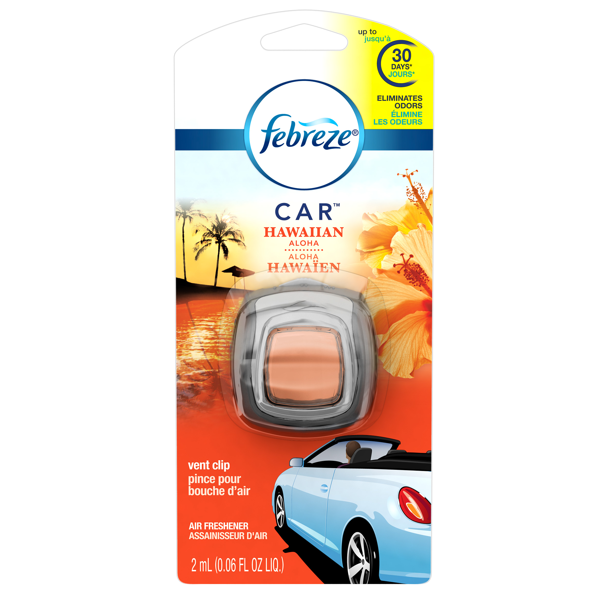 Febreze CAR Air Freshener Hawaiian Aloha (1 Count, 0.06 oz)