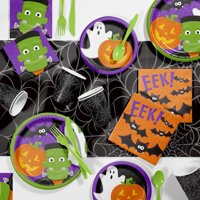 Friendly Halloween Party Supplies Kit (81pc - Serves 8 Guests)