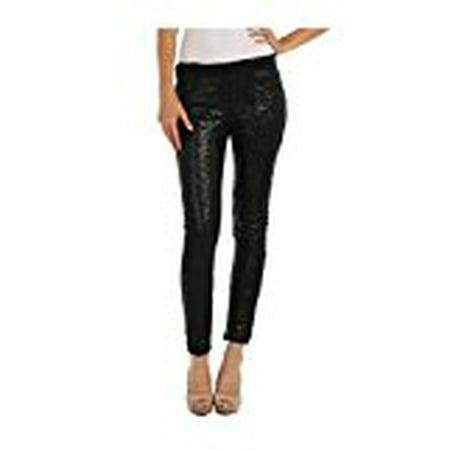 Women's Embellished All Over Sequin Sparkle Dance Leggings Black - Express Sequin Leggings