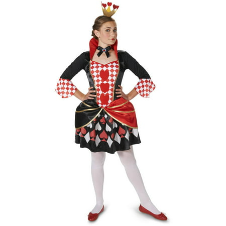 Evil Queen of Hearts Women's Adult Halloween Costume - Plus Size Queen Of Hearts Halloween Costume