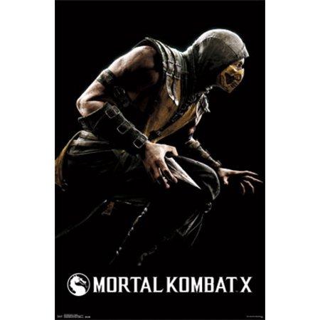 Mortal Kombat X - Scorpion Poster Print (22 x 34) (Mortal Kombat Movie Poster)