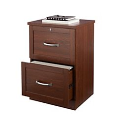 "Realspace® Premium 17""D 2-Drawer Vertical File Cabinet, Brick Cherry"