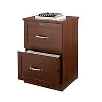 "Realspace® Premium 17""D 2-Drawer Vertical File Cabinet, Brick Cherry"