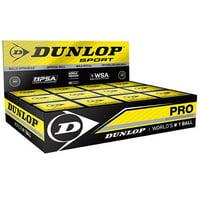 Dunlop Pro Double Yellow Dot Squash Balls