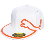 Puma Monoline 210 Hat (White/Vibrant Orange, L/XL) Golf Cap NEW