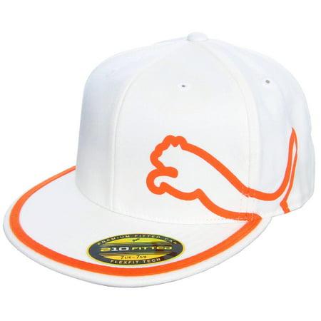 7018b25e343 Puma Monoline 210 Hat (White Vibrant Orange
