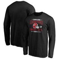 Kansas City Chiefs NFL Pro Line by Fanatics Branded Super Bowl LIV Champions Punt Return Long Sleeve T-Shirt - Black