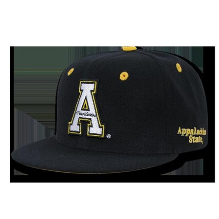W Republic Apparel 1020-104-BLKGLD Appalachian State Accent Snapback, Black & Gold