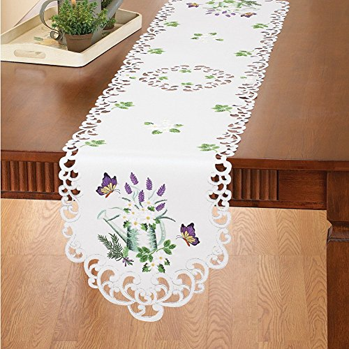 Collections Etc Lavender and Herb Table Linens, Runner by Collections Etc