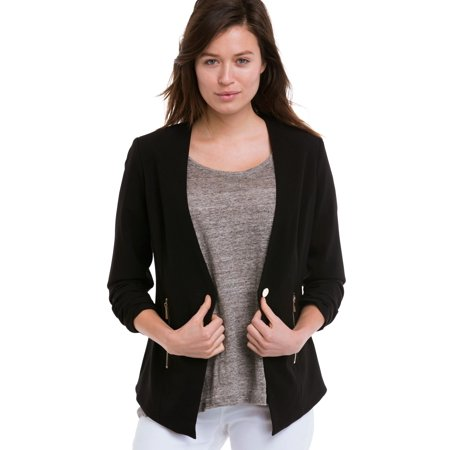 Ellos Plus Size Zip Pocket Blazer
