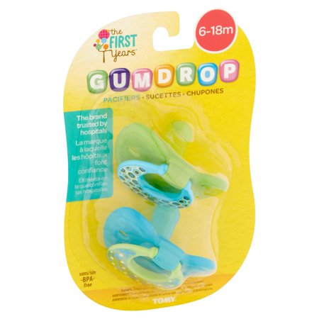 Best Tomy The First Years Gumdrop Pacifiers, 6-18m - 2 Counts deal
