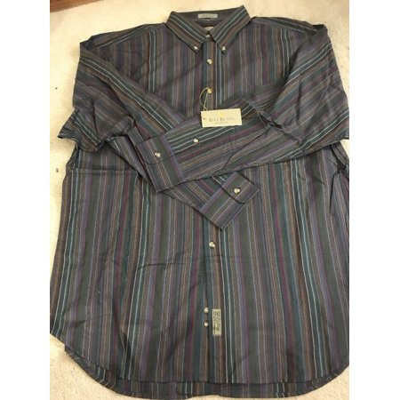 Bill Blass Menswear Shirt 100% cotton Size Size L Striped Shirt Ships N 24h Bill Blass Clothing