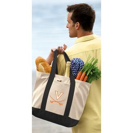 University of Virginia Tote Bag CANVAS University of Virginia Totes for TRAVEL BEACH - Halloween Express Virginia Beach