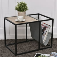 Costway End Table Side Accent Metal Magazine Organizer