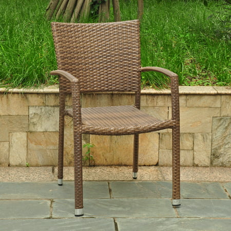 Resin Wicker Outdoor Chairs (International Caravan Barcelona Resin Wicker/ Aluminum Outdoor Dining Chairs (Set of 6) )