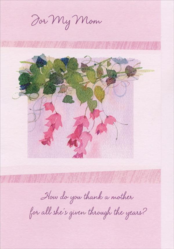 Designer Greetings Pink Flowers Hanging From Green Vine Birthday Card For Mom Walmart Com Walmart Com